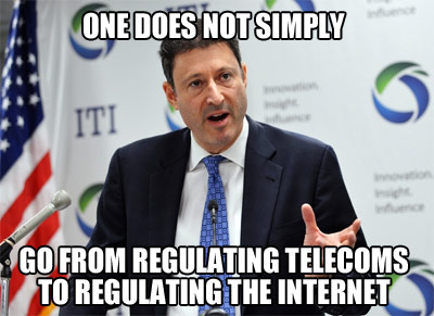 One does not simply regulate the internet
